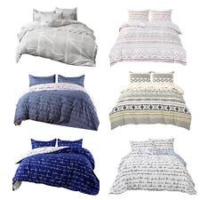 3pcs Comforter Duvet Cover Microfiber Reversible Printed Quilt Cover Bedding Set