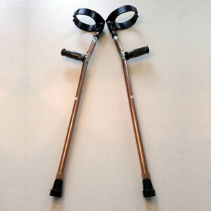 Forearm Crutches Bronze Size M (Pair) Walking Lightweight Adjustable Small Cuff