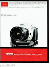 PUBLICITE ADVERTISING 096  1999  Canon appareil photo Eos 300