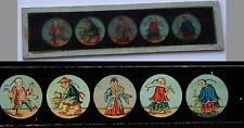 Ancienne plaque verre magic lanterne magique fin XIX° Chine Asie Japon Kimono