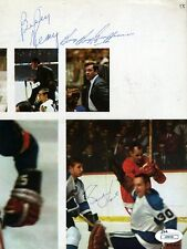 GORDIE HOWE BILL REAY BOOM BOOM GEOFFRION JSA SIGNED 8X10 PHOTO AUTOGRAPH
