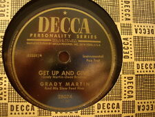 GRADY MARTIN Slew Foot Five - Get Up and Give / Don't Stay Away    DECCA 78rpm