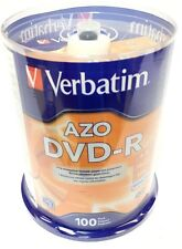 Verbatim DVD-R 4.7GB 16x 120m AZO Branded Disc 100 Pack Spindle 95102 New Seal
