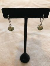 Authentic Chelsea Taylor Sterling Silver Olivina Crystal Dangle Earrings E277