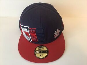 Era 59fifty New York Rangers Snap-back Fitted cap hat 7 3/8 NHL Imperfect