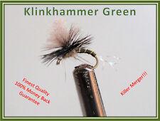 TROUT FLIES - KLINKHAMER GREEN PARACHUTE 1 DOZ. Size 14 hooks