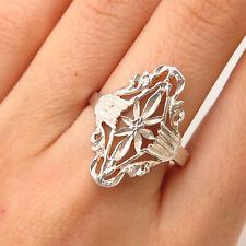 925 Sterling Silver Vintage Ornate Design Ring Size 10 1/4