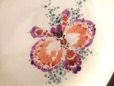 Meissen Teller / Schale  19 cm Phantasie Orchidee bunt Heinz Werner