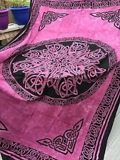 CELTIC Knot MANDALA Rose Medieval Wicca Hippie TAPESTRY Wall Hanging Bedspread