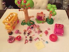Lalaloopsy Lot Mini Dolls Remote Car School Bus Tree House (004)