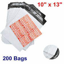 200 10x13 Self Sealing Poly Mailers Shipping High Quality Plastic Bags 2.5 Mils