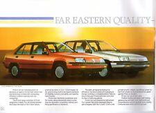 Proton 1.3 1.5 Saloon & Aeroback 1988-89 UK Market Sales Brochure GL GLS SE