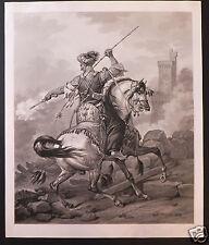 Vernet Jazet aquatinte etching  Mamelouk  1823 arabian Horse cheval Arabe
