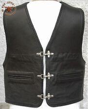 "Bad Company Leatherwear Nabuk Pelle Gilet Rocker tonaca Gilet in Pelle /""Steve/"" CHA CHA"