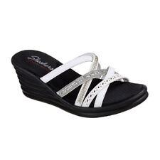 Skechers Rumblers Wave - Lassie White Womens Wedge Sandals Size 8m