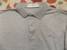 FAIRWAY& GREENE GRAY WITH WHITE STRIPE SHIRT SIZE M