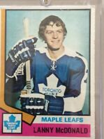 1974 TOPPS #168 LANNY McDONALD RC MAPLE LEAFS Not Graded