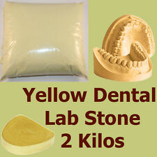 2 kilo, Extra Hard #3 Dental LabStone, Yellow Casting Moulding Stone Plaster