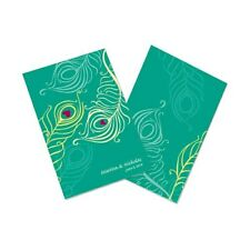 Perfect Peacock Personalized Wedding Programs 24/pk