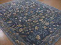Persian 2.5x9 3x5 5X8 8X10 9X12 Botanical Floral Blue wool area rugs BL08