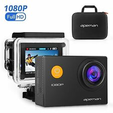 APEMAN Sports Action Camera 12mp HD 1080p Waterproof Cam 170 Ultra Wide-angle Le