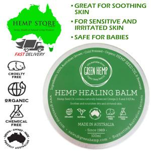 Healing Balm Organic Hemp 100ml Natural Beeswax Chemical Free Soothes Dry Skin