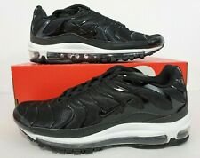 innovative design b3447 dc967 Nike Air Max 97 Plus Tune Up Black White Running Shoes AH8144-001 Size 9.5