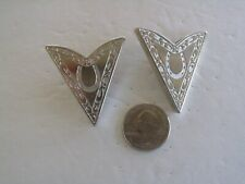 COLLAR TIPS HORSESHOE LARGE 1-3/4 BY 1-1/2 INCHES VTG NOS SILVER TONE WESTERN