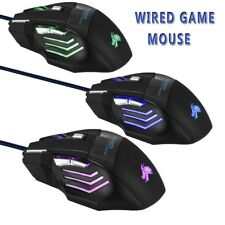 NEW VERSION 5500 DPI 7 BUTTONS USB LED OPTICAL WIRED GAMING GAME MOUSE MICE