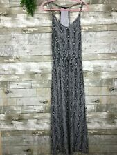 Banana Republic Halter Maxi Dress sz S black white sleeveless summer