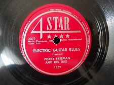 Porky freeman Electric Guitar Blues / Pickin 8 to the Bar 4 Star 1569 VG+
