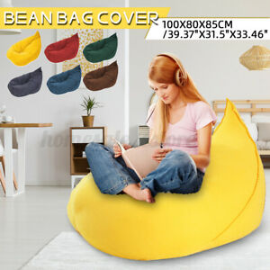 Bean Bag Cover Lazy Couch Sofa Chair Gamer Seat Lounger Protection Indoo