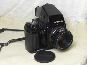 Bronica SQ-Ai 6x6 Camera, 80mm f2.8 PS Lens, finder, SQ-i Back, + power winder