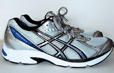 Asics Gel Maverick 3 Silver Blue Black White Athletic Running Shoes SIZE 14