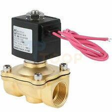 Electric Brass Solenoid Valve 34 110v Ac For Gas Water Air Normally Closed