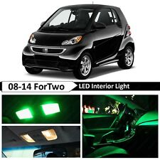 Green Interior Map License Plate LED Light Package Fit 2008-2014 Smart ForTwo