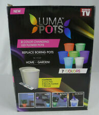 Luma Pots Color Changing LED Light Flower Pot w/ Remote 2 Pack As Seen On TV