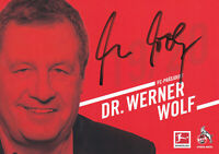 Dr. Werner WOLF - 1.FC Köln, 2019/20, Präsident, Original-Autogramm!