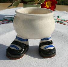 Carlton Ware Walking Ware Egg Cup - Black Shoes, Blue Stripe Socks