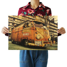 """Antique Vintage Car Printed Old Style Poster Print Wall Decor Decals 20x13.7"""""""