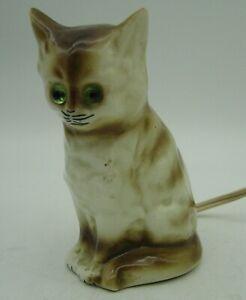 lovely Art Deco porcelain perfume lamp sitting Cat
