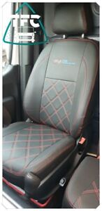 Mercedes Sprinter SEAT COVERS FULL ECO LEATHER Bentley Stitching  And 3 logos