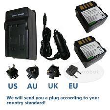2PK Battery&charger for JVC BN-VF707U Everio GZ-MG21U  GR-D340EK Camcorder