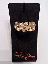 Luigi Quaglia gioielli anello oro giallo fiori e brillanti D889/AG