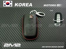 HY04-8 4B Leather Key fob Holder Case Chain Cover FIT For HYUNDAI Elantra Sonata