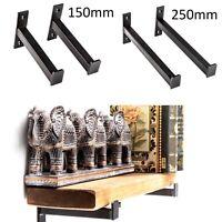 Large Storage Hooks Heavy Duty Shelf Brackets Wall Mounted Dark Rustic Style