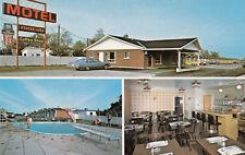 Motel Rideau 8600 Marie Victorin BROSSARD Quebec Canada Advertising Postcard
