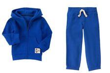 Gymboree Hop N Roll Blue Zip Up Classic Hoodie Fleece Pants Set Boys 4T NEW NWT