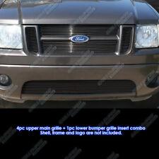 Fits 01-05 Ford Explorer Sport Trac Black Billet Grille Combo