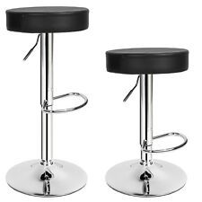 2 Bar Stools Set Faux Leather Kitchen Stool Breakfast Chair Chrome 1x Lounge 2x Sebastian | 401562